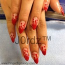 Blood dripping nails