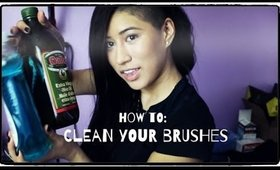 HOW TO: Clean and Condition Your Makeup Brushes
