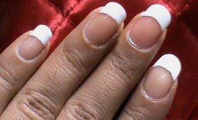 Salon Manicure At Home ! SHAPE your nails + a French tip - nail manicure tutorial!