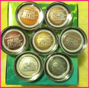 So far I have 7... I just need two more. I actually wore these on new years eve & day... 24 hrs and it lasted that long!!!  ...Audacious Aspalt, Bad to the Bronze, Too cool, Pomegranate Punk, Tough Taupe, Bold Gold & Fierce & Tangy
