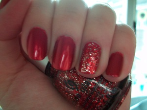 My Christmas nails!  Nails Inc Villiers Street with China Glaze Love Marilyn from the Eye Candy collection.  To read my review of the polishes please visit my blog: www.mazmakeup.blogspot.com