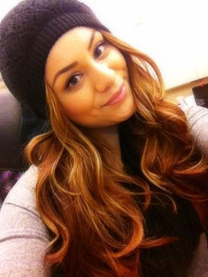 casual look with soft curls and a beanie...cute look for winter