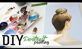 How To Paint a Portrait w/ Acrylics 2 of 3 | ANNEORSHINE