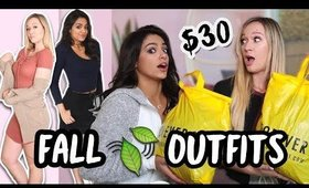 $30 OUTFIT CHALLENGE ft. Alisha marie | FALL 2017