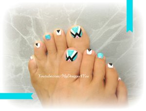 Retro Toenail Art Design | Pedicure