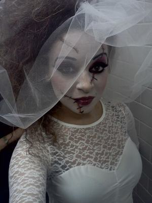Hollywood Undead Show All the makeup for the show glowed under black light...sooooo cool.  Model:  Amanda Lynn MUA:  Joelle Geiger Hair:  Praveen Singh Photographer:  Amanda Lynn working her iPhone.