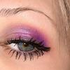 Pink violet eyeshadow.