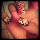 Hello Kitty,Pink Nails,Cheetah,Zebra
