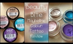 Beauty Bites: Maybelline 24hr Colour Tattoo Cream Eyeshadows Review HD