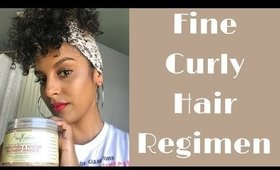 Fine Curly Hair Regimen