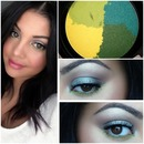 Metallics & bright green lower lash