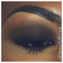 black and dark brown smokey eye