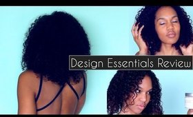 Hydrating Curl Products for Your Curly Hair Routine {Design Essentials Review} ◌ alishainc