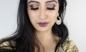 GRWM-Golden Smokey Eyes for Indian Attire