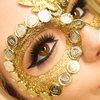 Gold Masquerade Makeup by Gia Vittoria