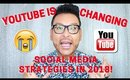 Another Youtube Apocalypse! NOTIFICATIONS STOP ! Social Media Changes in 2018 | mathias4makeup