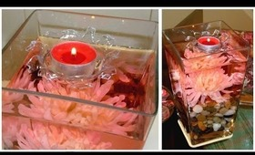 DIY Valentine's day IDEAS - FLOATING candle centerpiece!