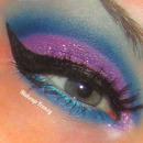 Purple and blue glittery look