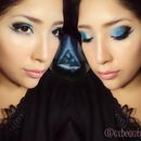 Makeup blue sky