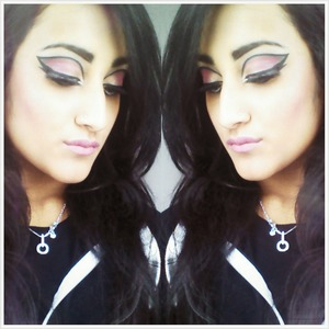 Dramatic cut crease look.  The whole look on me.