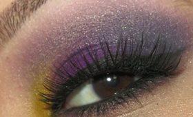 Tutorial: Smokey Purple with a Pop of Yellow!