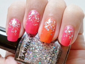 Summery Neon Nail SpaRitual Dreamsicle, Solaris Barielle Starchild http://www.beautybykrystal.com/2012/07/summery-neon-nail-collab-with.html
