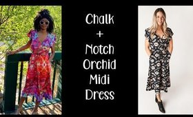 Chalk + Notch Orchid Midi Dress | #SewMyStyle2019