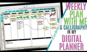 Setting up Weekly Digital Plan With Me March 16 to March 22 PROCESS, PWM Process Video & Calligraphy