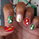 Christmas Tree Vinyl Nail Art Decals