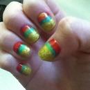 Jamaica inspired nails :)