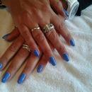 beautiful blue nails blueblue