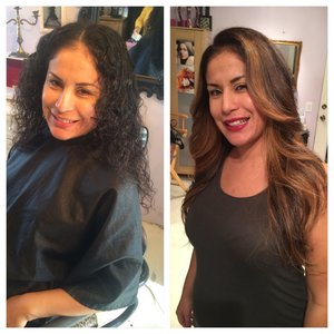 Hair makeover Flambayage | cut | color | style @dollmeup