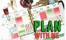 Plan with me: CHRISTMAS Erin Condren Life Planner Weekly Spread / Erin Condren Vertical #25
