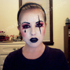 Harlequin Make-Up, Front View