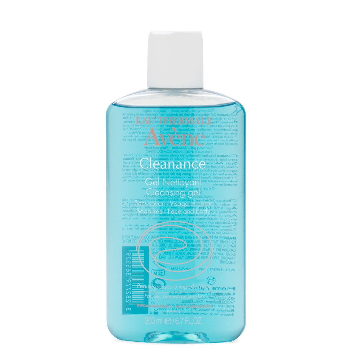 Eau Thermale Avène Cleanance Cleansing Gel 200 ml product swatch.