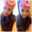 soft makeup and turban.