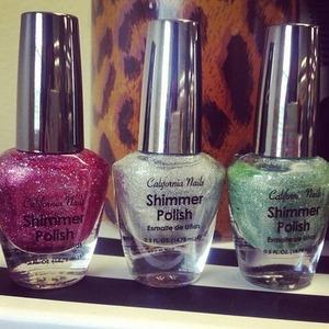 Love all 3 of these California Nails Shimmer Nail Polish