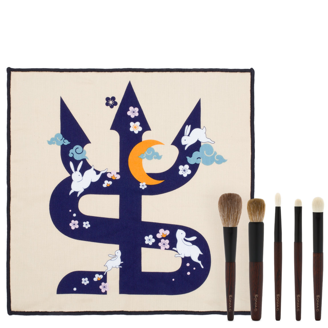 Sonia G. Keyaki Brush Set + To the Moon and Back Towel Bundle alternative view 1 - product swatch.