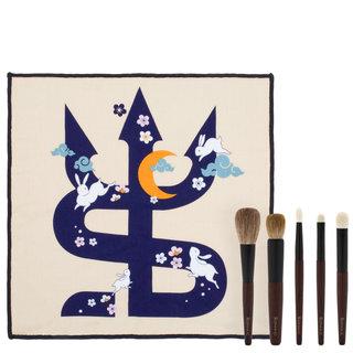 sonia-g-keyaki-brush-set-and-to-the-moon-and-back-towel