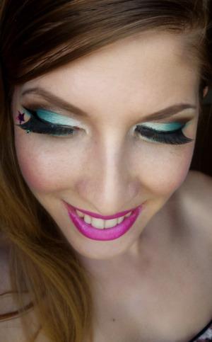 Teal, Brown & Pink Look