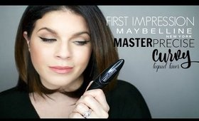 First Impression: Maybelline Master Precise Curvy Liquid Liner | Should You Buy It? @girlythingsby_e