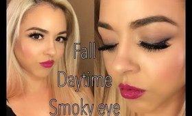 Fall Daytime Smoky Eye & Berry Lip | Beauty by Pinky