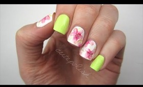Watercolor Flower Nails + Formula X Giveaway!
