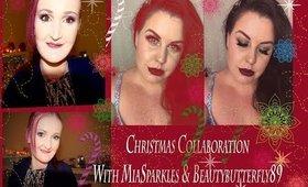 ☆Stunning, Festive  Christmas Makeup☆Collaboration Ft~ Miasparkles