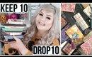 Keep 10 Drop 10 Eyeshadow Palette Declutter
