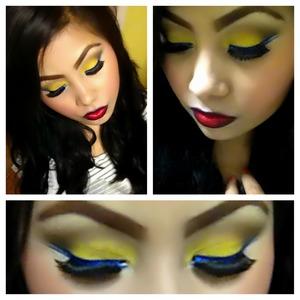 In love wit yellow ;) n blue eyeliner
