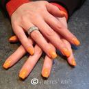 Orange Gel Nails