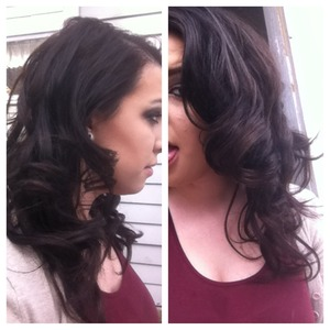 No heat curls otherwise know as pin curls.