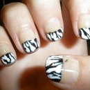 zebra French tip