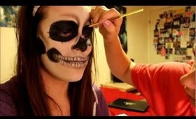 Lady Gaga Skeleton Makeup Tutorial